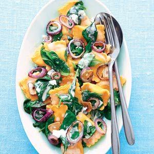 Recept - Ravioli met kaas en spinazie - Allerhande
