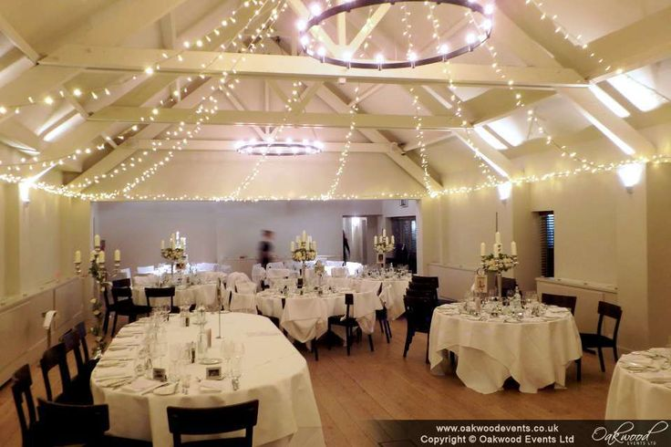 Star canopy of lights for a beautiful winter wedding