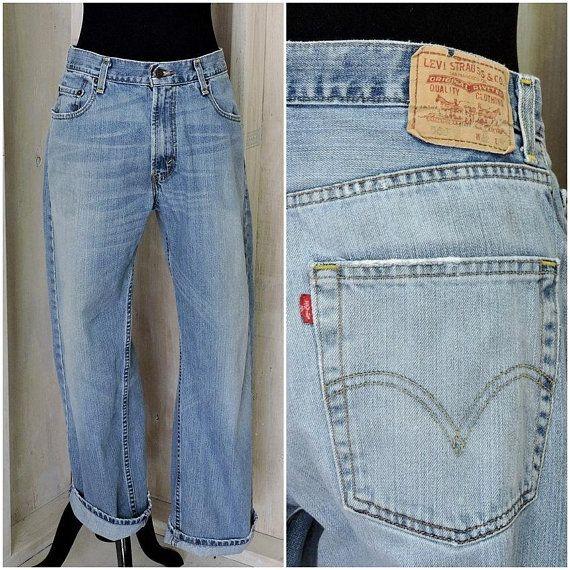 5b30c218 Levis 569 jeans 32 X 30 / vintage loose fit straight leg levi jeans / mens  / womens boyfriend jeans