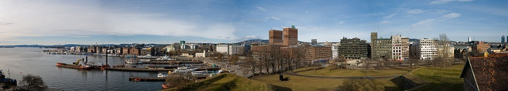 Aker Brygge and Vika Panorama, in Oslo, Norway.