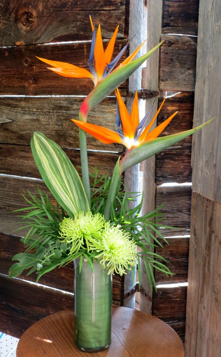 An Exotic Birds of Paradise arrangement that makes a statement