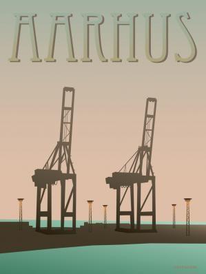 ViSSEVASSE Aarhus plakat - Havnen Endnu en plakat til at minde mig om hjemme