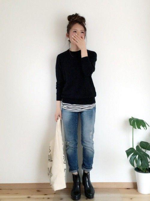 UNIQLOのニット・セーターを使ったaponのコーディネートです。WEARはモデル・俳優・ショップスタッフなどの着こなしをチェックできるファッションコーディネートサイトです。