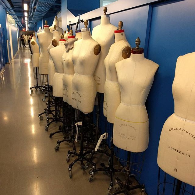 Mannequins lined up and ready to be used for #parsons #senior #students #presentation #stress #hardwork #almostdone #beautiful #designsgraymanage