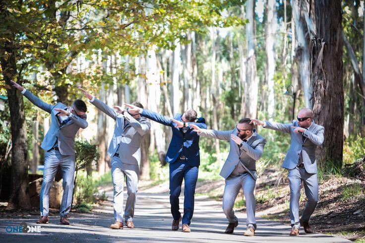 Wedding Fun - Do the #dab -  Photo by Andrew Howes @ #dunkeld Wedding venue in #dullstroom - #groomsmen #funweddingpics #one2onegroup #weddingphotography