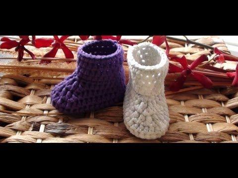 Baby Booties (Flower Loom Footsies) - YouTube
