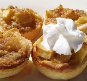 "Apple Mini Tarts: ""These are excellent! It is like having an apple pie without the work. I will be making these for the holidays rather than a whole pie. There will definitely not be any leftovers with these."" -AZPARZYCH"