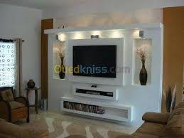 les 25 meilleures id es de la cat gorie meuble tv placo sur pinterest mur en placo meuble de. Black Bedroom Furniture Sets. Home Design Ideas