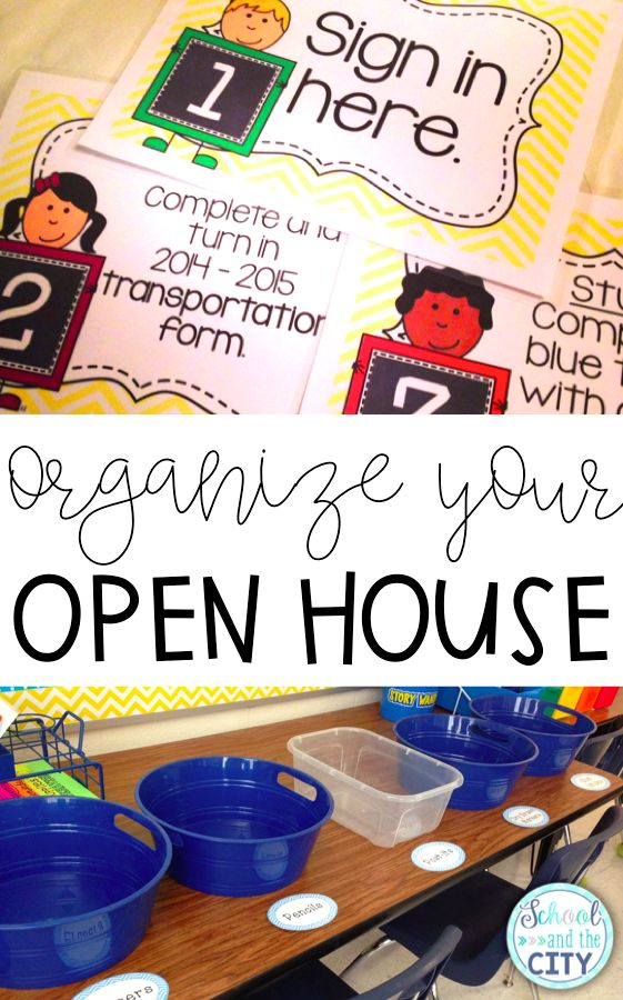 Organize your Open House / Back to School Night
