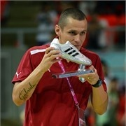 Rodolfo Fortino of Italy is seen with the adidas Silver Boot Award - FIFA.com