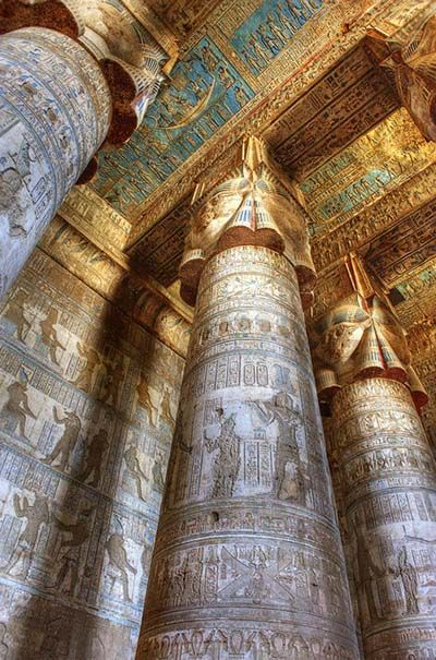 Temple of Hathor, Dendara, Egypt                                                                                                                                                                                 More