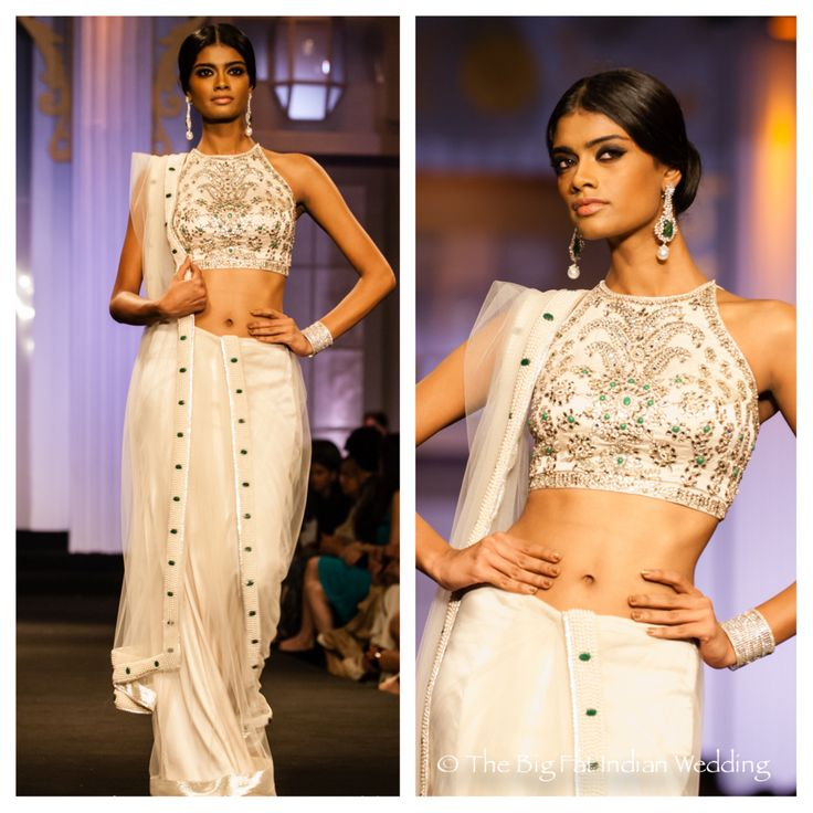 15 Gorgeous White Indian Wedding Lenghas & Saris