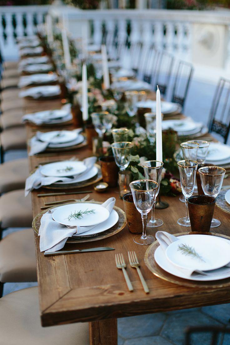 romantic and rustic chic family style table reception tablerustic chicplacewedding decorationwedding daycinderellaromanceswedding planningsetting - Wedding Reception Table Decorations