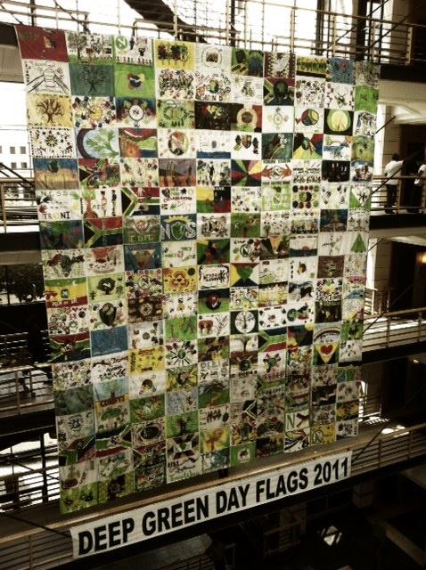 Nedbank Deep Green Day Flags 2011