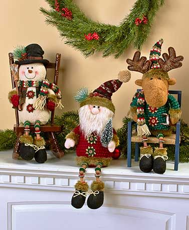 Add a little extra decoration to your home with this #Holiday Button-Leg #Shelf Sitter. Each friendly character is dressed head to toe in holiday attire with fun accents, including unique legs made out of buttons.