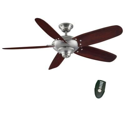 Home Decorators Collection Altura 56 In Brushed Nickel Ceiling Fan Home Depot Ceiling Fans