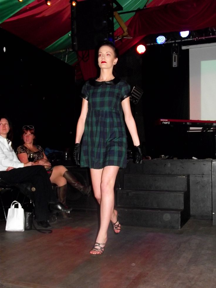 Model two strutting her stuff on the runway in The Grand Social!  Photo Credit: Laura Vitel