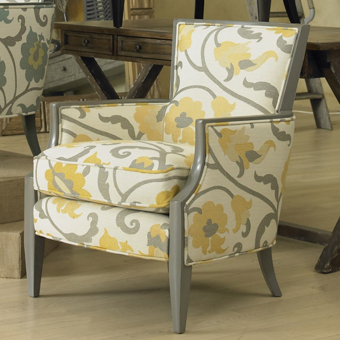 Gorgeous gray and yellowWood Chairs, Floral Prints, Sam Moore, Moore Nadia, Nadia Chairs, Accent Colors, Accent Chairs, Living Room Accent, Side Chairs
