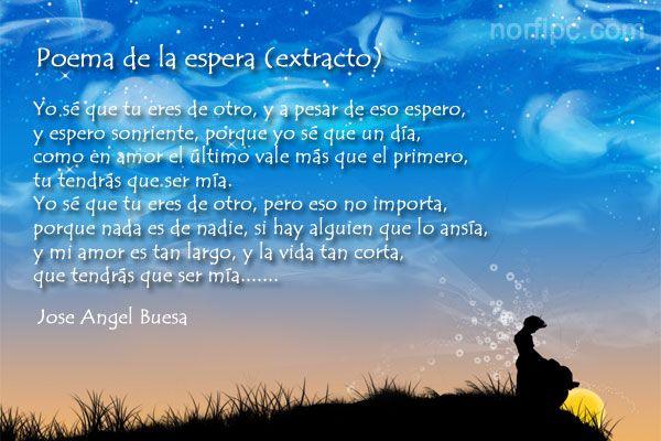 Poemas Para Cunhadas Amor E Poesias: Poema De La Espera De Jose Angel Buesa