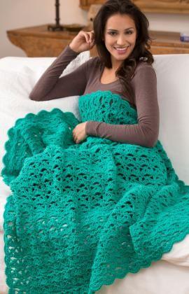 Aqueous Throw Crochet ~ free pattern ᛡ
