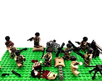 Zombies V Soldiers Custom Set with Lego and Compatible pieces