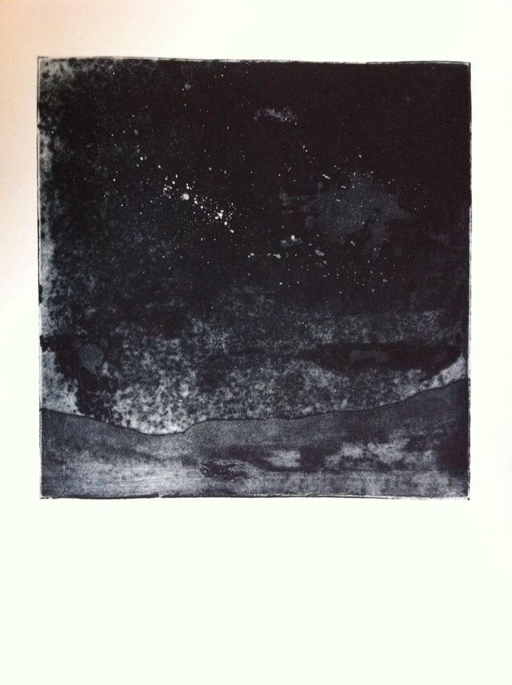 Night, water bite and aquatint etching
