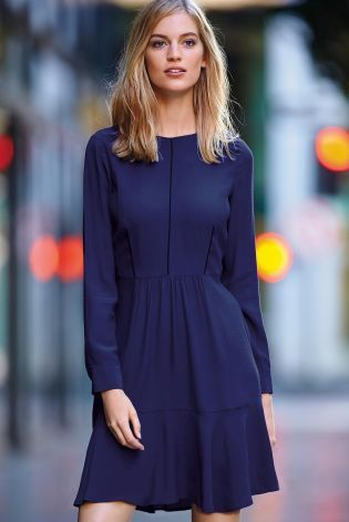 Buy Cobalt Flippy Long Sleeve Dress online today at Next: United States of America