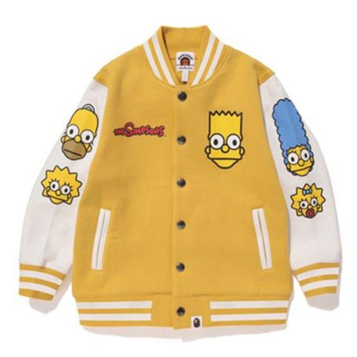 Купить товарДети мальчики симпсоны бейсбол куртки пальто хлопка длинные рукава в категории Куртки и пальтона AliExpress.                  Размер                              Дети высота                              Общая длина