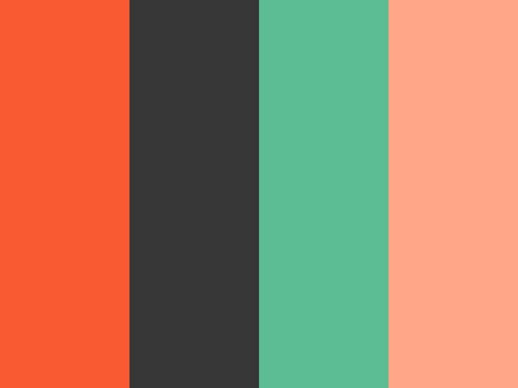 スカーレット|墨|若竹色|サーモンピンク