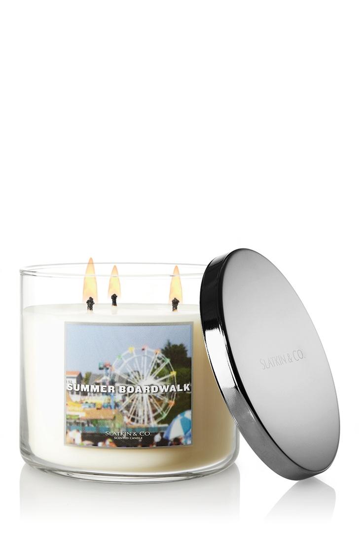 Summer Boardwalk 14.5 oz. 3-Wick Candle - Slatkin & Co. - Bath & Body Works