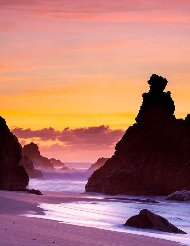 Praia da Ursa, Sintra Cascais Natural Park, Portugal - most western point in continental Europe