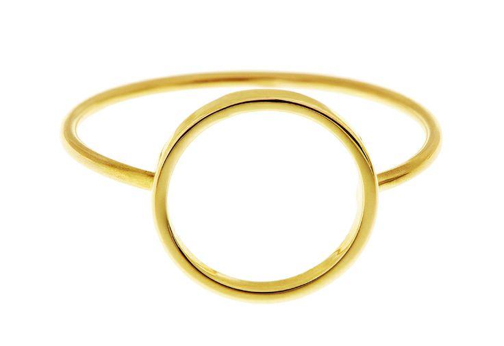 Pierścionek złoty karma Minty dot