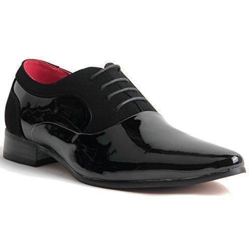 Oferta: 36.01€. Comprar Ofertas de Collezione Italiana - Zapatos de cordones de sintético para hombre, color negro, talla 41.5 barato. ¡Mira las ofertas!