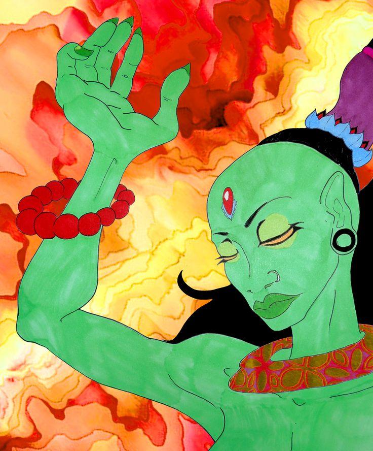 Deida-dah - Composicion plumones Sharpie + Photoshop - 2015 - JhetroMan  #dibujo #arte #psicodelia #trip #JhetroMan #psychedelic #drawing #ilustration