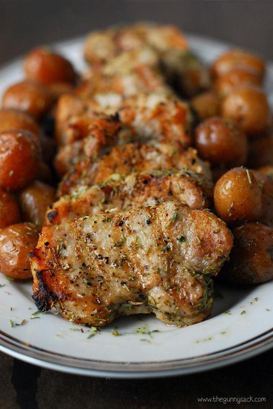 Garlic Rosemary Pork Tenderloins