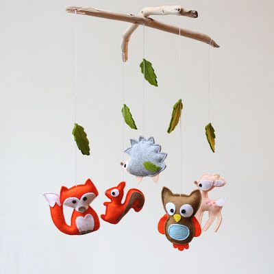 Essies handcraft cuteness: Baby mobile – forsest animals