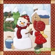 Resultado de imagen para moldes navideños para patchwork sin aguja gratis