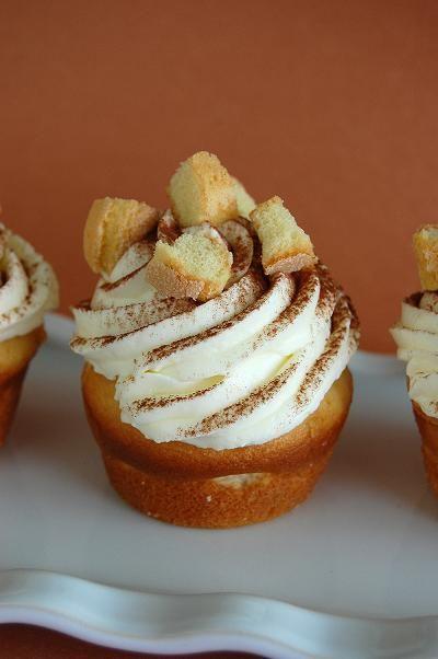 Tiramisu Cupcakes  http://www.culinaryconcoctionsbypeabody.com/2013/01/02/tiramisu-cupcakes/