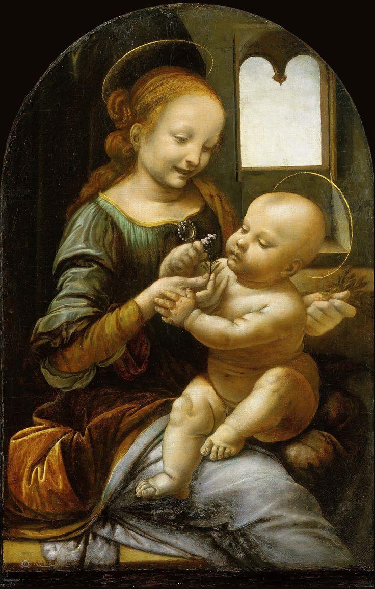Leonardo Da Vinci: Benois Madonna ۩۞۩۞۩۞۩۞۩۞۩۞۩۞۩۞۩ Gaby Féerie créateur de bijoux à thèmes en modèle unique ; sa.boutique.➜ http://www.alittlemarket.com/boutique/gaby_feerie-132444.html ۩۞۩۞۩۞۩۞۩۞۩۞۩۞۩۞۩