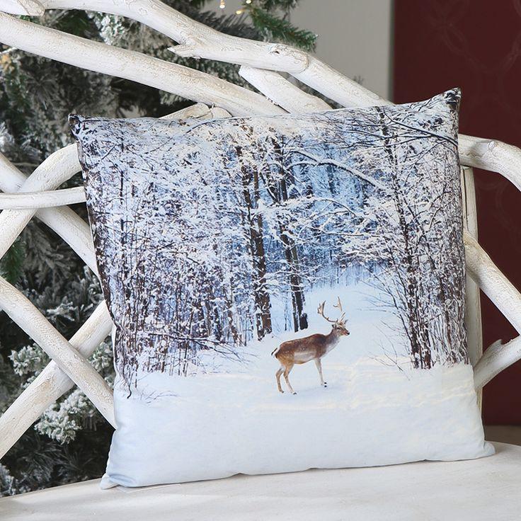 Kissen mit Wintermotiv