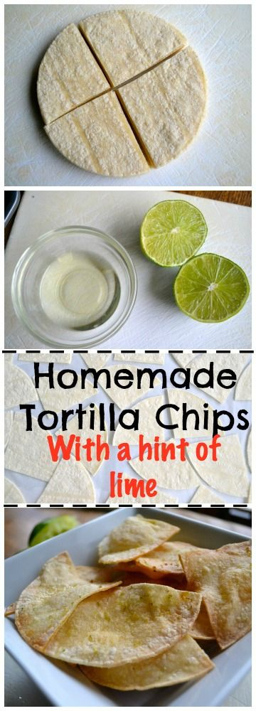 Homemade Tortilla Chips with a hint of lime