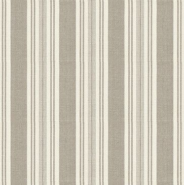 Gray & Ivory Handwoven Stripe Fabric contemporary-upholstery-fabric