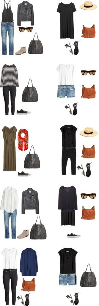 What to Wear in Greece and Belgium Outfit Options 1-10 #packinglight #travellight #traveltips #travel