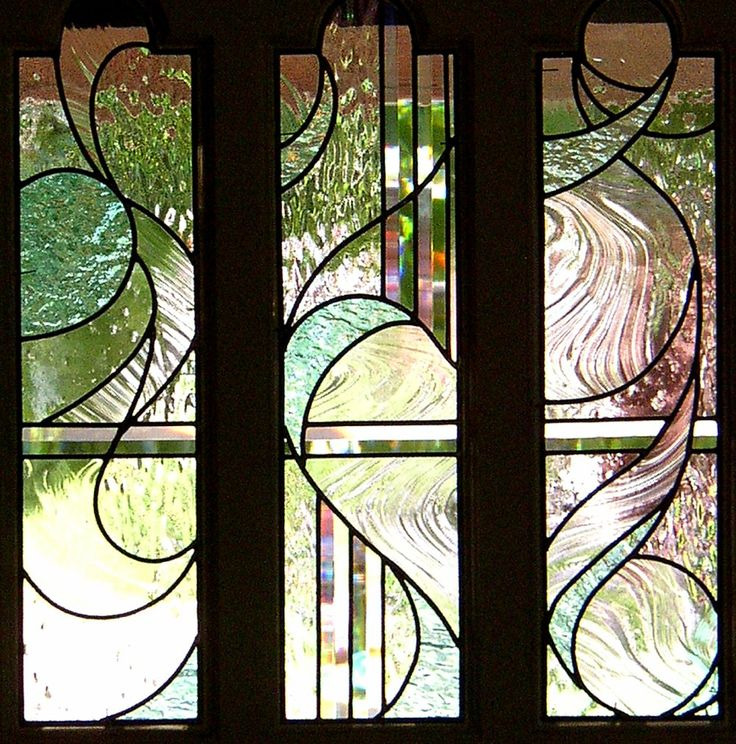 Leaded Or Stained Glass Pattern For My Bathroom Or Side Door