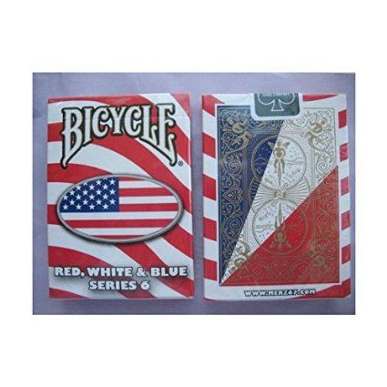 Bicycle Red White And Blue Series 6 Oval Design Playing Cards