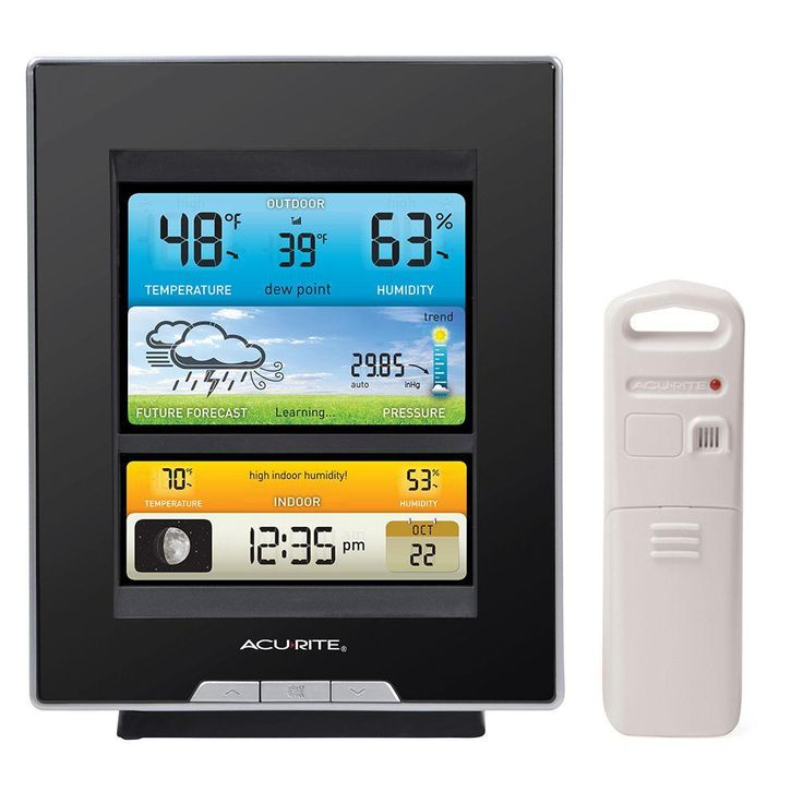 Plan The Day With Confidence With Your Own Weather And Weather Prediction  Information   Pinpoint Accuracy Right From Your Own Backyard. The AcuRite  Color ...