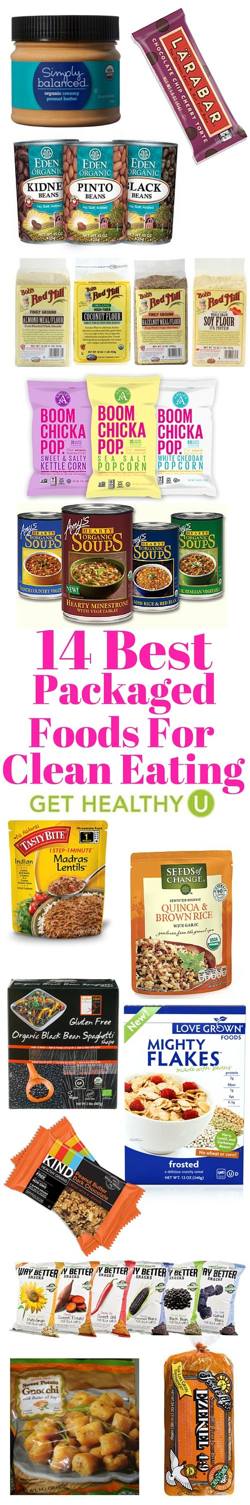 You can't always eat fresh. Here are our 14 favorite healthy packaged foods that are good for you and delicious!