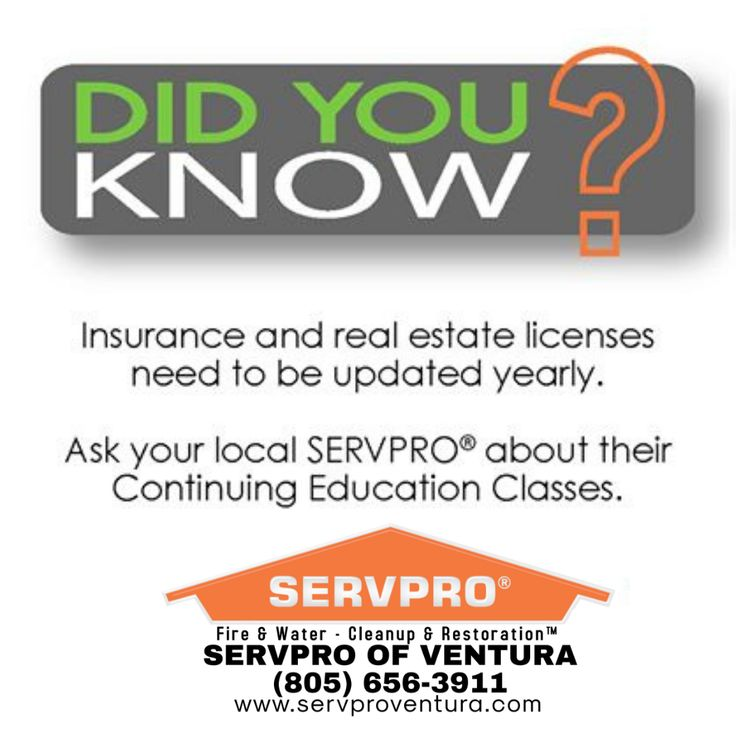 Did you know servpro of ventura continuing education