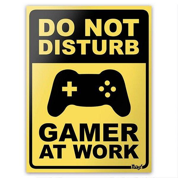 Placa Gamer At Work                                                                                                                                                                                 Mais
