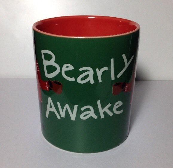 #Hatley #Coffee #Mug #Bearly Awake Ceramic NWT